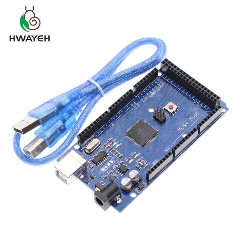 Livraison Gratuite Mega 2560 R3 Mega2560 REV3 Conseil ATmega2560-16AU + Cable USB Compatible Pour For Arduino Mega 2560 R3