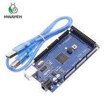 Livraison gratuite Mega 2560 R3 Mega2560 REV3 Conseil ATmega2560-16AU + câble USB compatible pour Arduino Mega 2560 r3
