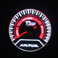 Universal 2Inch 52mm Air Fuel Ratio Car LED Gauge Electtro Luminescent Air Fuel gauge meter Exhaust Temp Free shipping