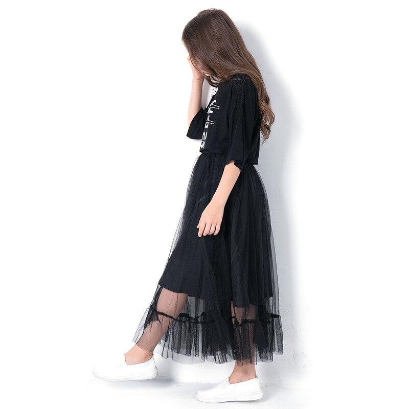b71a8e5adea0 Girl Clothing Sets Elegant Blouse+Skirt in 2pcs Autumn Children ...