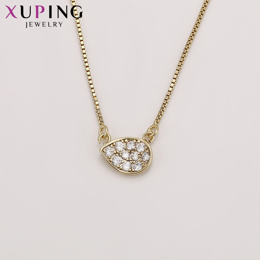 Xuping Fashion Elegant Light Yellow Gold Color Plated Set for Women Imitation Jewelry Sets for Party S71,1-62275