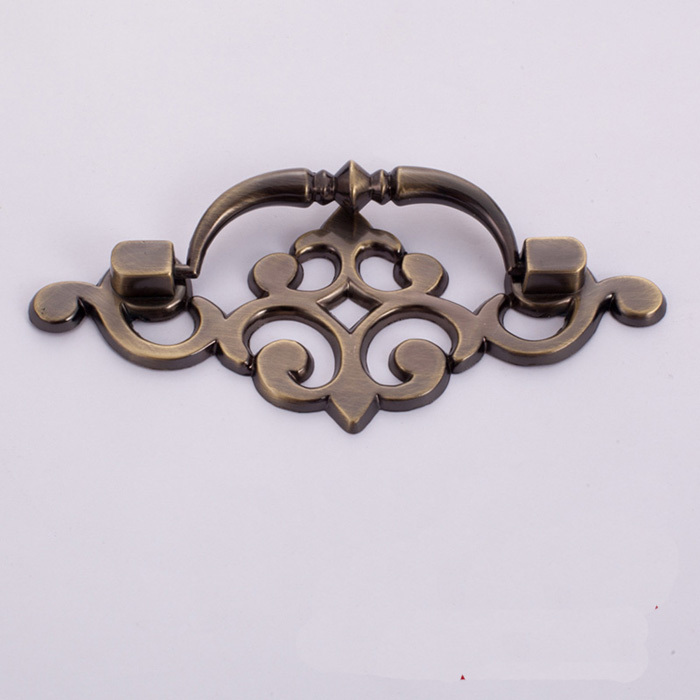 Vintage Style Bronze Cupboard Door Cabinet Handle Drawer Pulls Knob, Antique  Furniture Hardware small CC - Antique Bronze Zinc Alloy Furniture Handles Cabinet Wardrobe Dresser