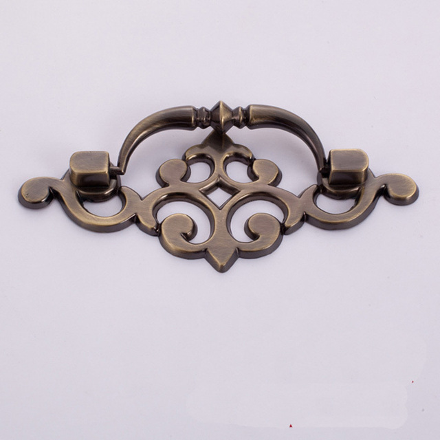 Vintage Style Bronze Cupboard Door Cabinet Handle Drawer Pulls Knob, Antique  Furniture Hardware Small CC