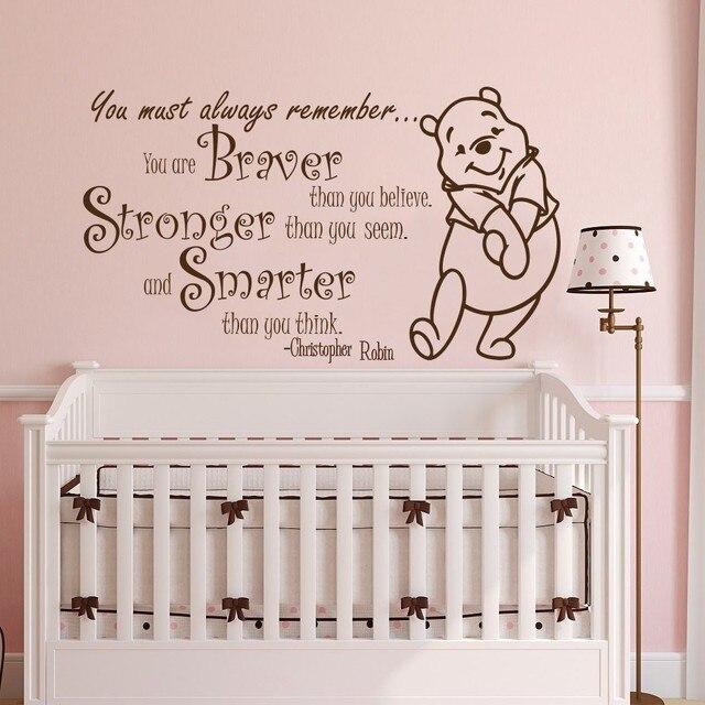 Muurstickers Winnie The Pooh Zwart Wit.Winnie De Pooh Babykamer