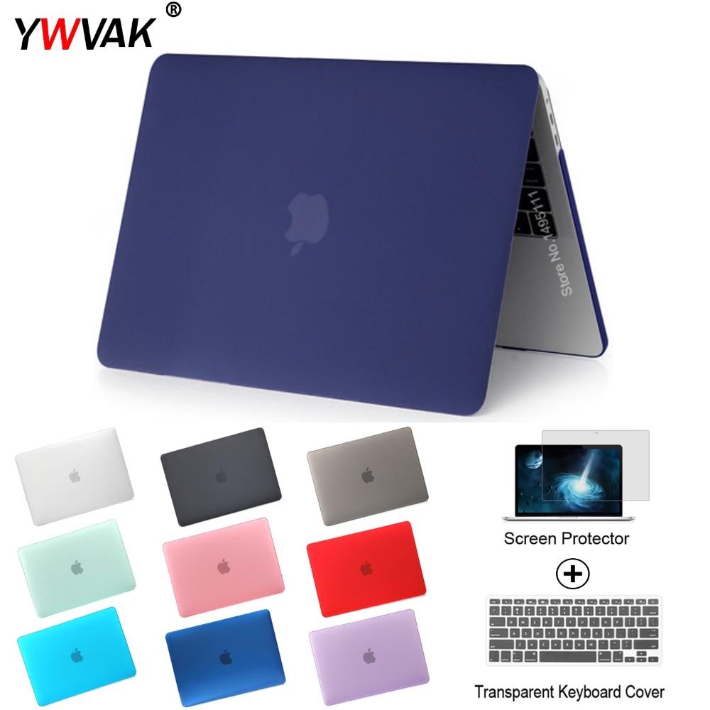 YWVAK HOT Vender laptop Case Para Apple macbook Air Pro Retina 11 12 13 15 Para Mac book 13.3 polegada com Barra de Toque + gift