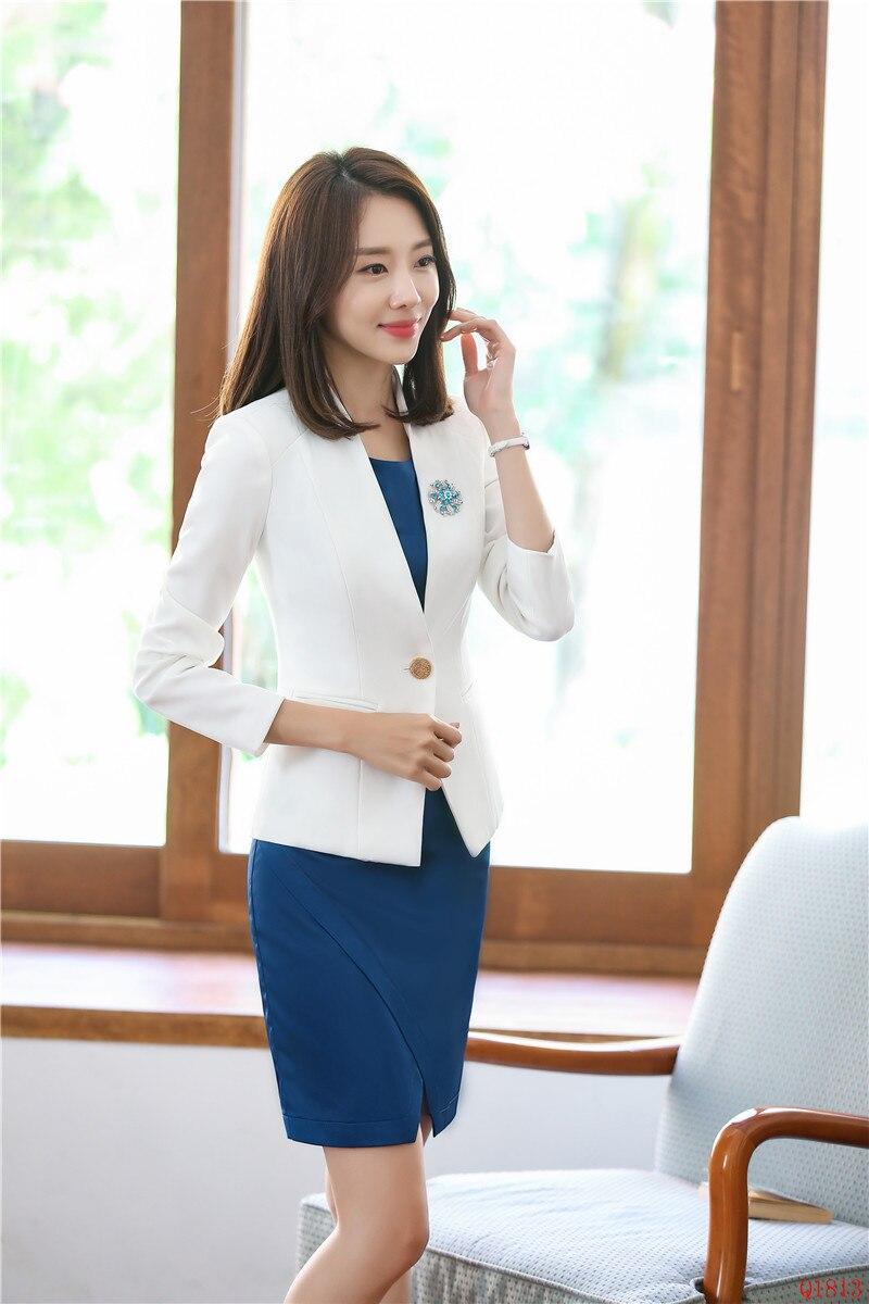 Formales Mujer Vestir Ropa Y Uniformes Para Blazer Oficina Blanca Ol  Negocios Trabajo De Trajes Conjuntos Chaqueta Estilos EHgpqq 2e80d45ec263