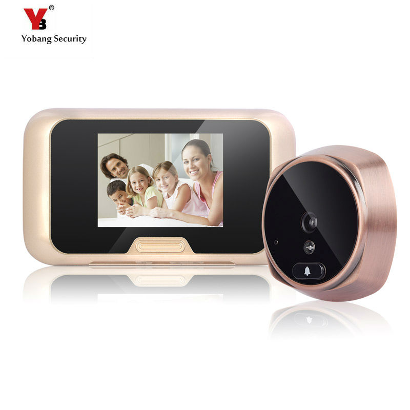 Yobang Security 3 LCD Screen Peephole Door Viewer Camera DVR Camera Video door Eye Home Door Bell Eye With IR Night Vision sexy plunging neck 3 4 sleeve hollow out tassels embellished cover up for women
