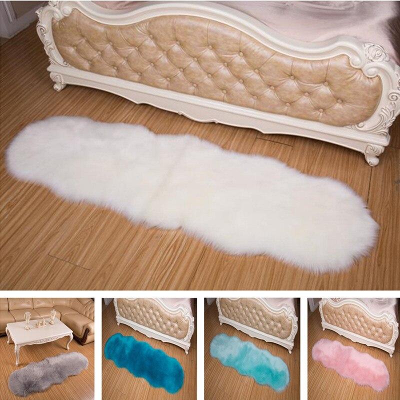 Peluche canapé coussin imitation laine vague tatami tapis en peau de mouton salon carepet balcon fenêtre décoration couverture chambre tapis - 6
