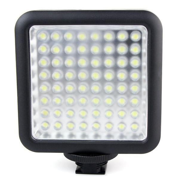 Godox LED64 wideo Panel LED lampa makrofotografii dla Canon Nikon kamery