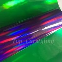1.52x20m/roll Purple Holographic Chrome Vinyl Film Rainbow Sticker Car Film Laser car wrap film Holographic Chrome Sticker