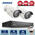 ANNKE 4CH 960P POE NVR Kit 2pcs 960P 1.3MP IR IP Camera Outdoor Waterproof P2P Home Security PoE CCTV System Surveillance Kit