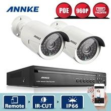 ANNKE 4CH 960 P POE NVR Kit 2 pcs 960 P 1.3MP IR IP caméra Extérieure Étanche P2P Sécurité À La Maison PoE CCTV Système de Surveillance Kit