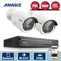 Annke 4ch 960 p poe nvr kit 2 unids 960 p 1.3mp ir ip cámara Impermeable Al Aire Libre P2P PoE CCTV Seguridad Para El Hogar Sistema de Vigilancia Kit
