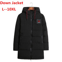 plus size 10XL 8XL 9XL 6XL windproof thick winter men down jacket brand clothing hooded warm duck down jacket male puffer jacket