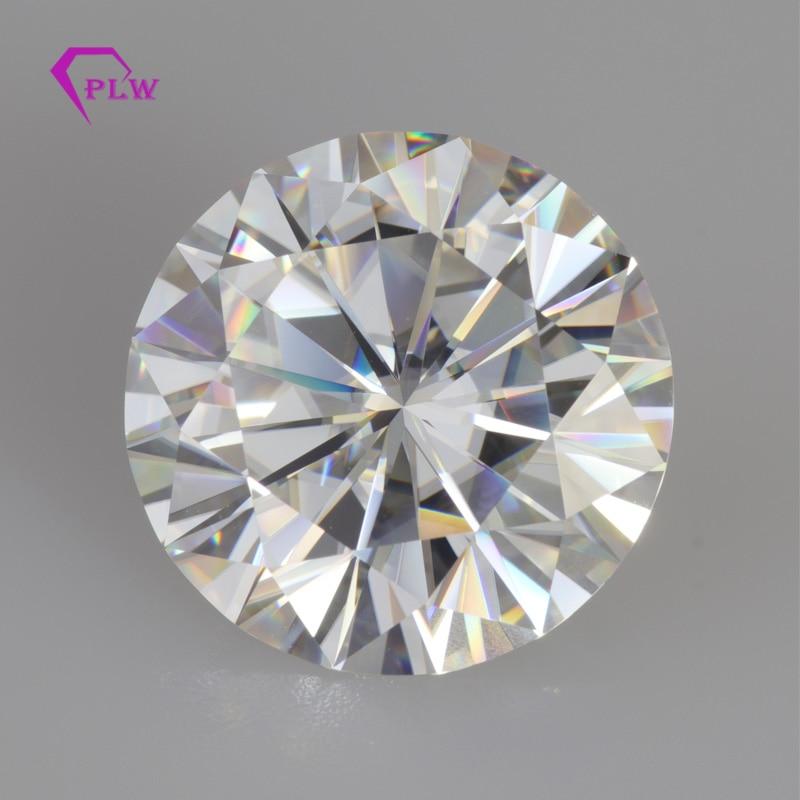 Genialny 8mm kolor EF 2ct cena fabryczna doskonała Cut okrągły kształt diament luźny moissanit serca i strzały Provence biżuteria w Diamenty i kamienie jubilerskie luzem od Biżuteria i akcesoria na  Grupa 1
