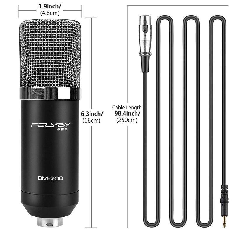 FELYBY BM700 Profesional de Alta Calidad de 3.5mm Micrófono con - Audio y video portátil - foto 5