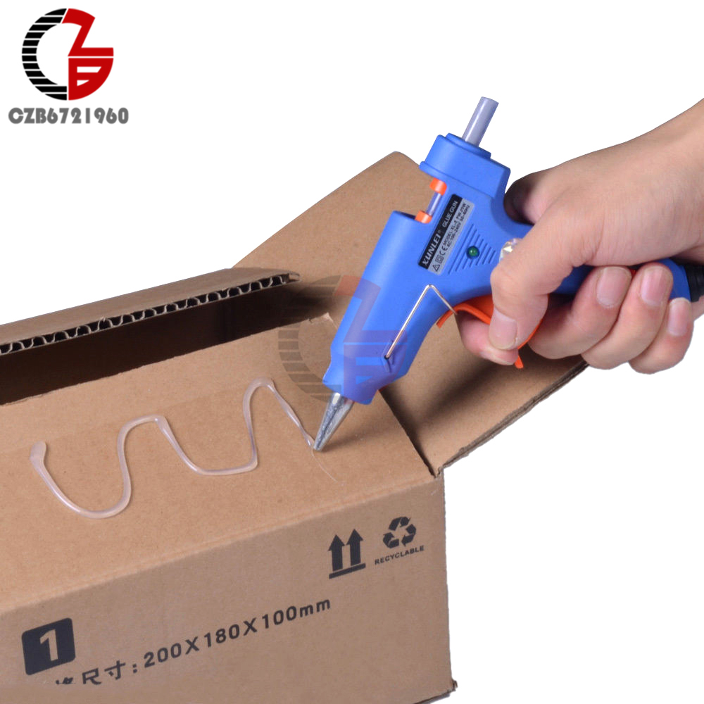 20W EU Plug Hot Melt Glue With 7mm Glue Stick Industrial Mini Guns Thermo Electric Heat Temperature Tool