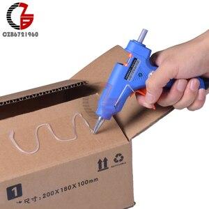 20W EU Plug Hot Melt Glue with 7mm Glue Stick Industrial Mini Guns Thermo Electric Heat Temperature Tool(China)