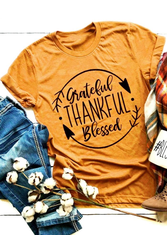 Raw Edge Thanksgiving Sweatshirt Grateful Shirt Thanksgiving T-Shirt Lightweight Off Shoulder Shirt Blessed Shirt Thankful Shirt