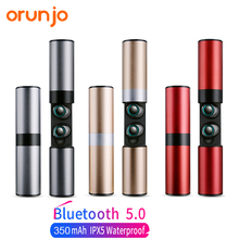 Orunjo S2 TWS Wireless Bluetooth Earphones V5.0 Touch Control Mini Earbuds Sport Hifi Stereo Headset with Mic Charge Power Box orunjo s2 tws wireless bluetooth earphones v5 0 touch control mini earbuds sport hifi stereo headset with mic charge power box