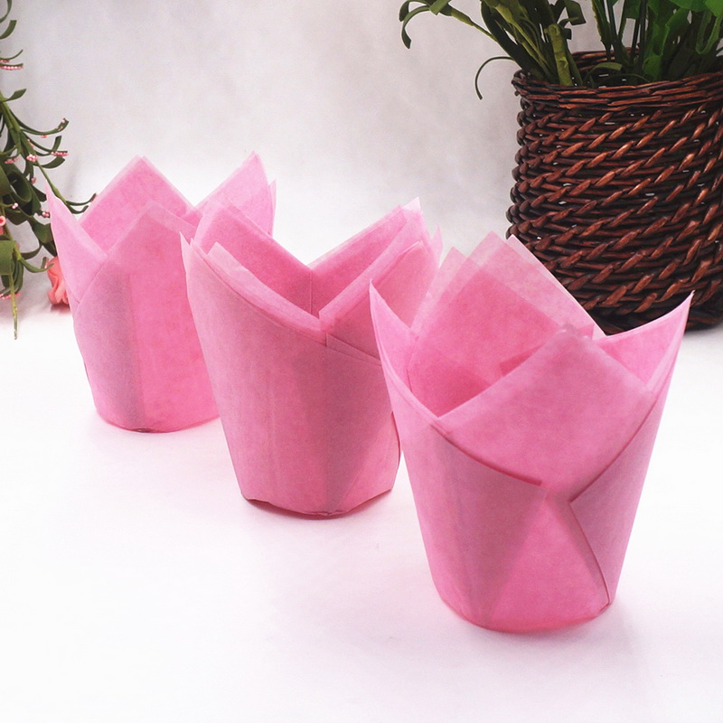 50pcs /set Flower Cake Decoration Paper Cupcake Tools Mold Disposable Cupcake Wrapper Baking Paper Liner