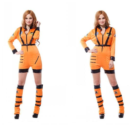 Ladies Purim Astronaut Cosplay Secret Police Suits For For Women Cosmonaut Dress Form Carnival Halloween Clothes Evening Events