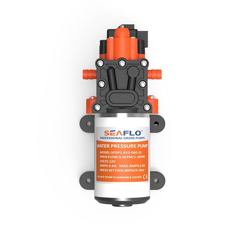 SEAFLO 12V Water Pressure Diaphragm Pump 2.8 GPM 10.6 LPM 45 PSI Boat Marine RV
