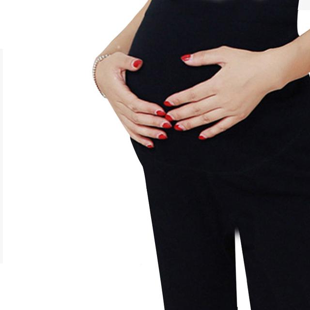 Moda vetement femmewinter señoras calientes pantalones ropa embarazadas polainas para las mujeres embarazadas de maternidad embarazo pantalones jogging