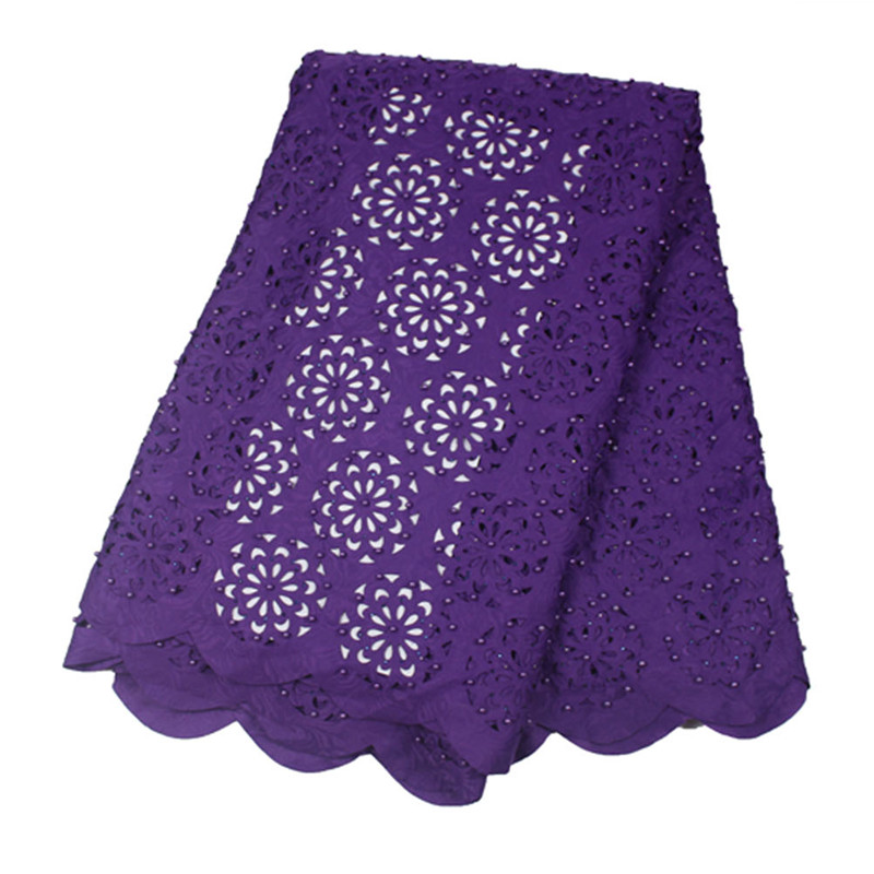SL-1537,african Lace Fabric,lace With Stones Latest Tulle Embroidery Fabric For Wedding,5yards/pc,1pc/set,PURPLE