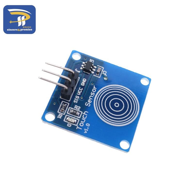 1 Channel Jog Digital Touch Blue Digital Ttp223b Sensor Module Capacitive Touch Switch Diy Starter Kit