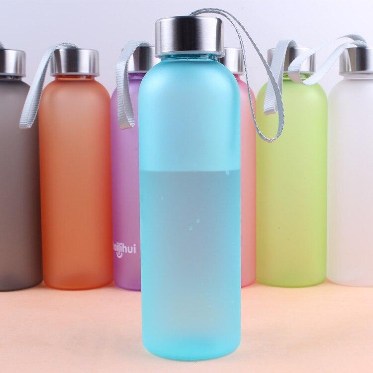 Gohide 1Pcs Candy Color Movement Handy <font><b>Cup</b></font> <font><b>Portable</b></font> Lanyard Frosted <font><b>Seal</b></font> <font><b>Water</b></font> Bottle Sport Leisure <font><b>Drink</b></font> <font><b>Cup</b></font> Customized In Bulk