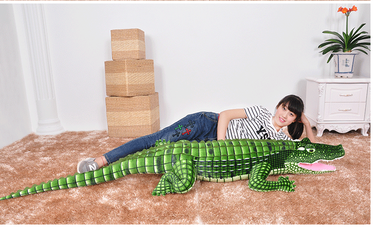 big size plush crocodile toy huge simulation crocodile gift about 200cm c5084