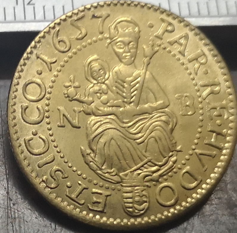 1657 NB Principality of Transylvania Hungarian states 1 Forint II Gyorgy Rakoczi Gold Plated Copy Coin in Non currency Coins from Home Garden