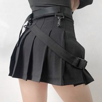Women High Waist Shorts Skirts Japan Harajuku Girl Vintage Pleated Fashion Mini Skirts