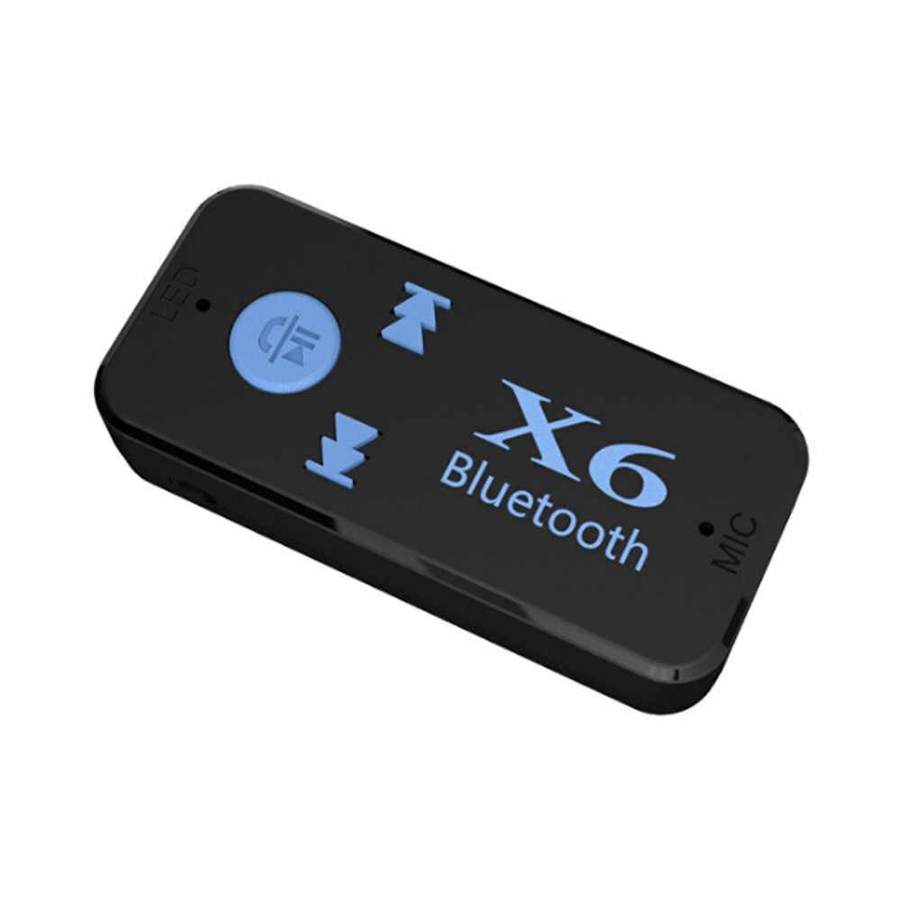 Car FM Transmitter Wireless X6 Mini 4.1 Aux Audio Receiver Adapter 3.5mm Car Mp3 Music Receiver Car Accessories 11.9
