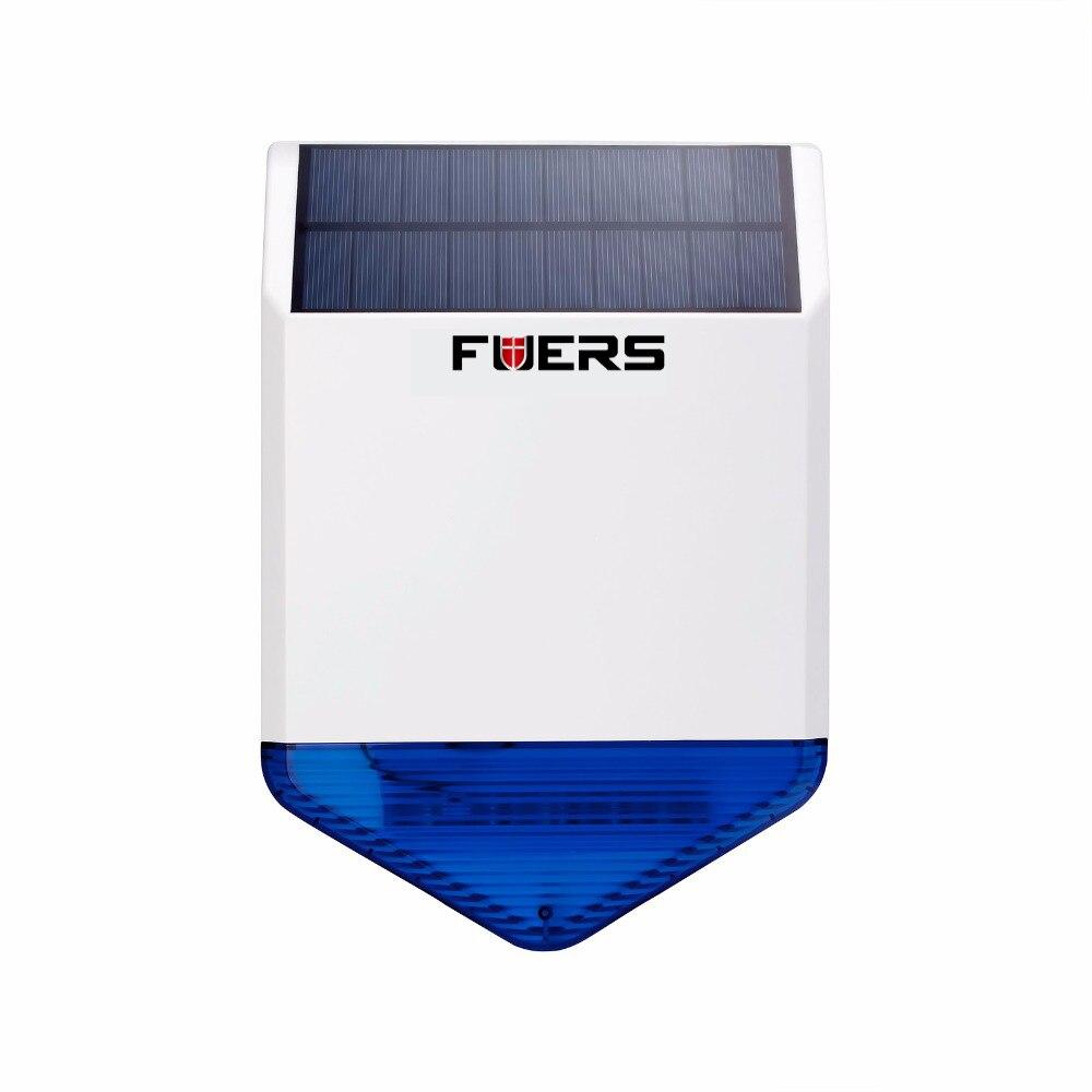 Nouveau Sans Fil Flash Stroboscopique Solaire Extérieure Étanche Sirène Alarma pour Sans Fil GSM Sécurité À La Maison Système D'alarme charge D'énergie