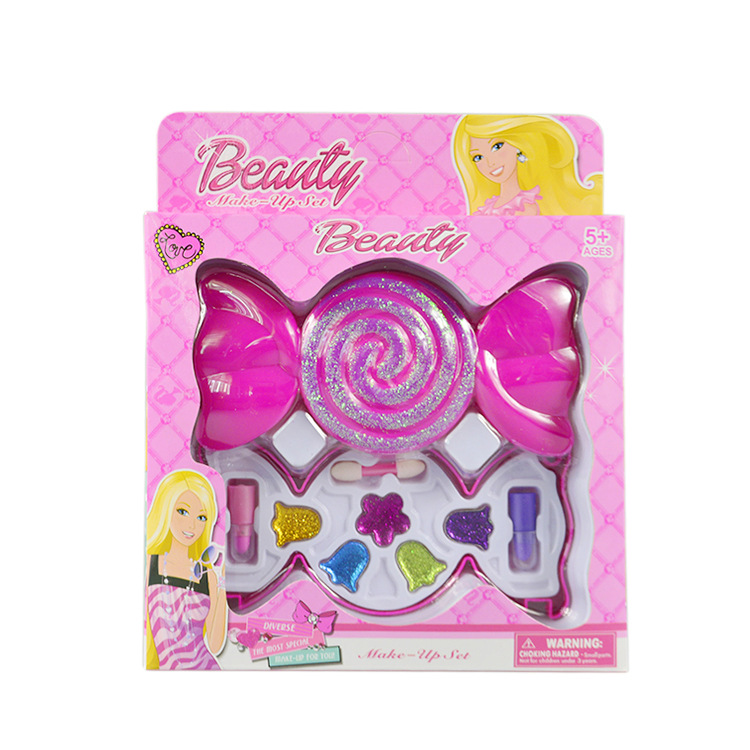 Children Girls Candy Pretend Play Make Up Toys Box Safe Kids Girls Makeup Tool Kit Best