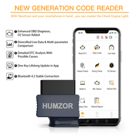 HUMZOR NexzScan OBD2 Scanner Code Reader Bluetooth 4.2 Professional Diagnostic Tool for iPhone, iPad & Android PK Bluedriver
