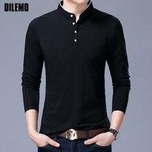 Hot Sell 2019 New Fashion Brand Clothing Polo Shirt Mens Long Sleeve Slim Fit Boys Mandarin Colla Polos Casual Men's Clothing