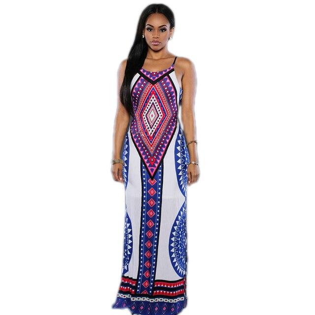 80238 Fashion Style Women Clothing Bohemian Dress Sleeveless Colorful Sexy  Backless Dress Comfortable Summer Dress Long 5494602a5