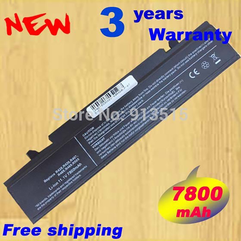 7800mAh Laptop Batteries for samsung RV411 RV415 RV508 RV509 RV511 RV515 RV520 R428 R429 R439 R467 R468 R470 Batteries 1x dc in power jack for samsung r467 r464 r468 p467 r418 r470 r463 r548 r467 r463 r519 q320 r522 r620 n128 n130 n135 n140 n150