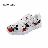 INSTANTARTS Women Running Shoes Cute Cartoon Mouse Sneakers Woman Outdoor Sports Run Shoes Student Girl 3D Printing Walking Shoe