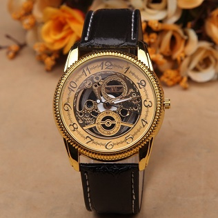 Fashion-Watches-Men-Gold-Silver-Skeleton-Wrist-Watch-Male-Casual-Quartz-Watch-Leather-Watch-High-Quality