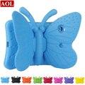 3D Бабочки Детские Case для apple ipad 2/3/4 9.7 дюймов EVA Ударопрочный Стенд Крышка с Ручкой для Детей чистые