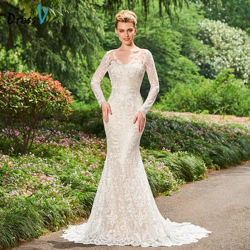 98dcaaae497 ᗚDressV V Средства ухода за кожей шеи Русалка свадебное платье ...
