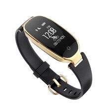 SMARCENT S3 Girl Women Fashion Smart Band Heart Rate Pedometer Monitor Wristband Smartband Fitness Tracker Bracelet PK S2 Band