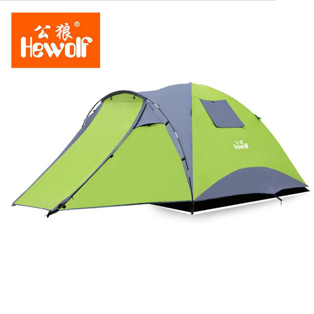 Hewolf Waterproof Tent Double Layer 4 Person Tourist Hunting Rainproof Tents C&ing Family Outdoor Travel Fishing  sc 1 st  AliExpress.com & Hewolf Waterproof Tent Double Layer 4 Person Tourist Hunting ...