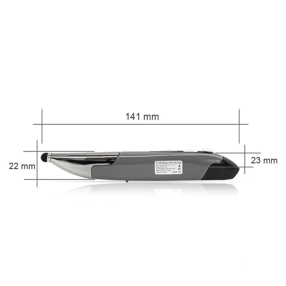 USB Wireless Mouse Wireless Air Pen Mouse Computer Mice PPT Pointer Capacitive Touch Screen Stylus with Mount for Laptop PC