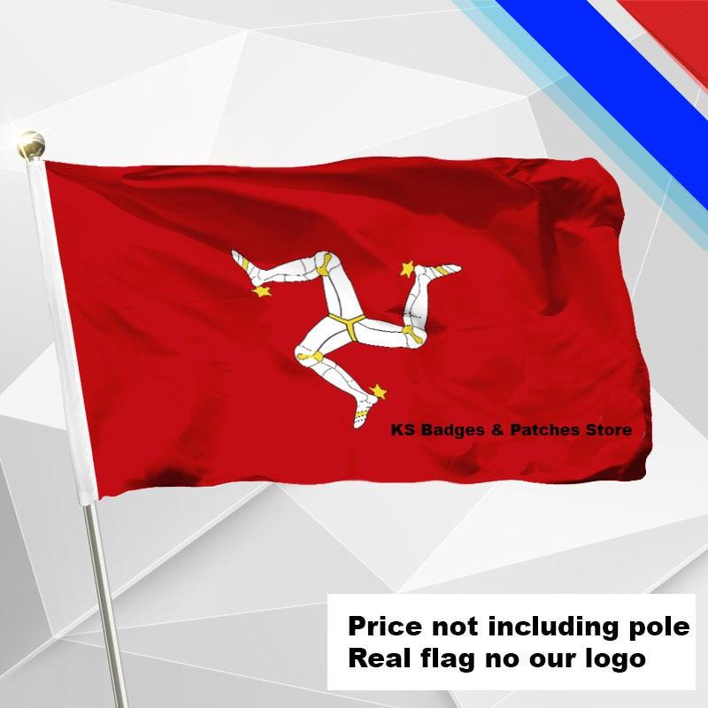 Isle Of Man Flagge Fliegen Flagge #4 144x96 Aroma In 3x5ft #1 288x192 #2 240x160 #3 192x128 #5 96x64 #6 60x40 #7 30x20 Ks-0090-c Duftendes