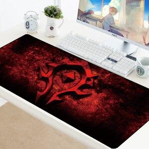 Image 4 - Welt von Warcraft Gaming Mauspad Speed Locking Rand WOW Große Natürliche Gummi Wasserdicht Spiel Schreibtisch Keyboad Matte für Dota Computer
